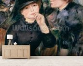 Girls in Black, 1881-82 (oil on canvas) wallpaper mural living room preview