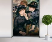 Girls in Black, 1881-82 (oil on canvas) wallpaper mural in-room view