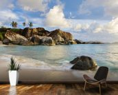 British Virgin Islands, Virgin Gorda, Tropical Beach Seascape mural wallpaper kitchen preview