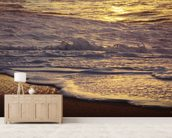 Hawaii, Oahu, North Shore, Reflection Of Sunset On Small Wave wallpaper mural living room preview