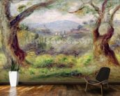Landscape at Les Collettes, 1910 (oil on canvas) mural wallpaper kitchen preview