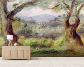 Landscape at Les Collettes, 1910 (oil on canvas) mural wallpaper living room preview