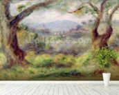 Landscape at Les Collettes, 1910 (oil on canvas) mural wallpaper in-room view