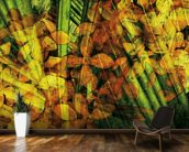 Collage Of Palm Leaf And Orchids mural wallpaper kitchen preview