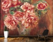 Roses in a Vase, c.1890 (oil on canvas) wall mural kitchen preview