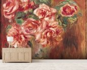 Roses in a Vase, c.1890 (oil on canvas) wall mural living room preview