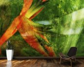 Close-Up Of Red Heliconia wall mural kitchen preview