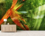 Close-Up Of Red Heliconia wall mural living room preview