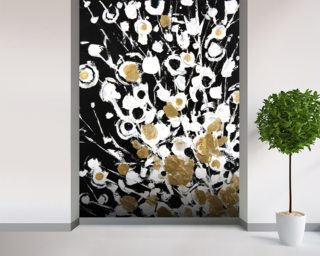 Abstract Flora - 2 Panel Series mural wallpaper