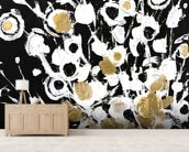 Abstract Flora - 2 Panel Series mural wallpaper living room preview