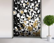 Abstract Flora - 2 Panel Series mural wallpaper in-room view