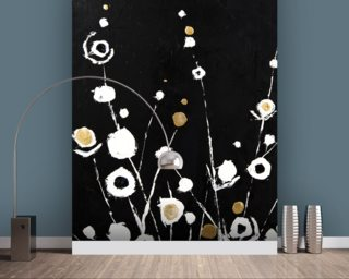 Abstract Flora II - 2 Panel Series wall mural