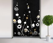 Abstract Flora II - 2 Panel Series wall mural in-room view