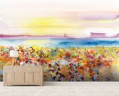 Field Of Joy mural wallpaper living room preview