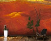 Evening Light Over The Naturally Red Hills wall mural kitchen preview
