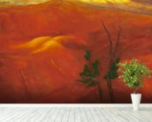Evening Light Over The Naturally Red Hills wall mural in-room view
