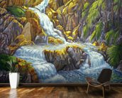 Waterfall At Botanical Gardens, Big Island wall mural kitchen preview
