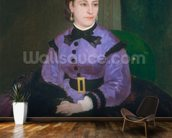 Portrait of Mademoiselle Sicot, 1865 (oil on canvas) wallpaper mural kitchen preview