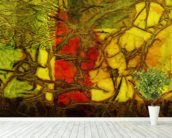 Rhapsody Of Colors 42, Abstract Art wallpaper mural in-room view