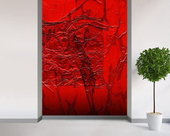 Rhapsody Of Colors 24, Abstract Art wall mural room setting