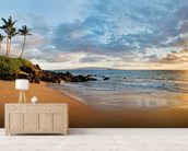 Hawaii, Maui, Makena, Secret Beach At Sunset 2 wallpaper mural living room preview