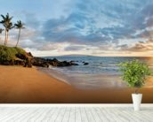 Hawaii, Maui, Makena, Secret Beach At Sunset 2 wallpaper mural in-room view