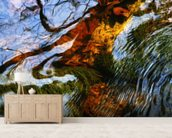 Ripples And Reflections On Water Surface mural wallpaper living room preview