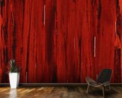 Rain - Abstract Painting In Red And Black wall mural kitchen preview