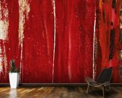Red Study 1 - Abstract Painting In Red wall mural kitchen preview