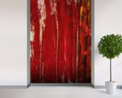 Red Study 1 - Abstract Painting In Red wall mural in-room view