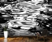 Abstract Water Reflection - Black And White wall mural kitchen preview