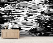Abstract Water Reflection - Black And White wall mural living room preview
