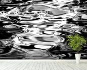 Abstract Water Reflection - Black And White wall mural in-room view