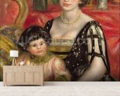 Madame Josse Bernheim-Jeune and her Son Henry, 1910 (oil on canvas) wallpaper mural living room preview