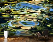 Abstract View Of Colorful Reflections On Calm Water wallpaper mural kitchen preview
