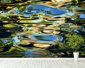 Abstract View Of Colorful Reflections On Calm Water wallpaper mural in-room view