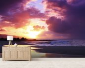 Beautiful Sunset - Oahu wallpaper mural living room preview