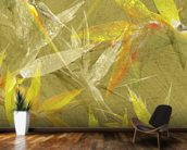 Collage Of Bird Of Paradise Blossoms mural wallpaper kitchen preview