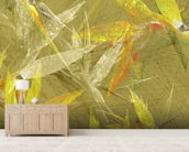 Collage Of Bird Of Paradise Blossoms mural wallpaper living room preview