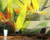 Bird Of Paradise Blossoms mural wallpaper kitchen preview