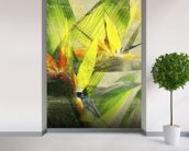 Bird Of Paradise Blossoms mural wallpaper in-room view