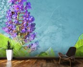 Midsummer - Purple Flowers wallpaper mural kitchen preview