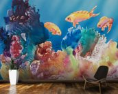 All Dressed Up - Tropical Reef Scene mural wallpaper kitchen preview
