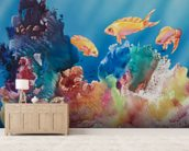 All Dressed Up - Tropical Reef Scene mural wallpaper living room preview