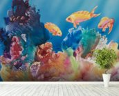 All Dressed Up - Tropical Reef Scene mural wallpaper in-room view