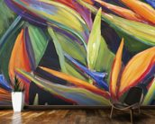 Dancing Birds - Bird Of Paradise Flowers wall mural kitchen preview