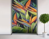Dancing Birds - Bird Of Paradise Flowers wall mural in-room view