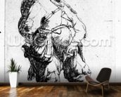 A man urinating, 1631 (eching) wallpaper mural kitchen preview
