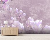 Flower Blossoms On Tree Branch wallpaper mural living room preview