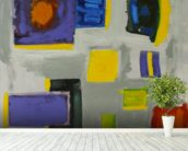 Squares - Colorful Abstract Composition wall mural in-room view